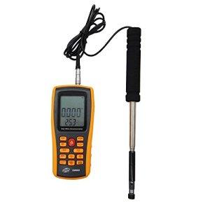 Benetech Gm8903anémomètre numérique Vitesse du vent Mètre anémomètre Vitesse du vent Gaugetemperature Mesurer Interface USB
