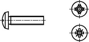 Dresselhaus lentille Vis métal galvanisé 4,8avec croix fente H, M 3x 50mm, lot de 1000