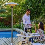 FAVEX – Parasol chauffant électrique Brescia – Extérieur – 3 Puissances de Chauffe – Économique – Résistant – 74 x 74 x 210 cm