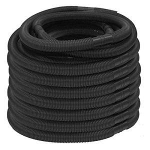 foyar Tuyau de piscine Noir 32 mm Tuyau d'arrosage de qualité supérieure pour piscine et piscine, longueur totale 6,3 m, divisible tous les 105 cm