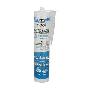 GEB – Réparation piscine – Mastic piscine POOL qualité professionnelle TRANSPARENT 290 ml