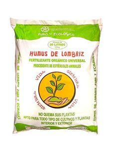 Humus de LOMBRIZ écologique pour 20L avec CERTIFICACION CAAE