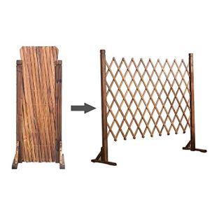 JHhuajia Jardin Couleur Naturelle rambarde rétractable clôture extérieure clôture en Bois Mesh clôture décorative clôture for Animaux (Size : 70x160cm)