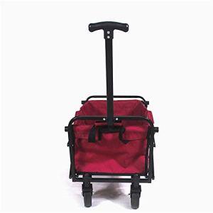 KTYX Chariot Pliable, Chariot de Transport Chariot de Jardin, Pliage extérieur Chariot à Quatre Roues motrices