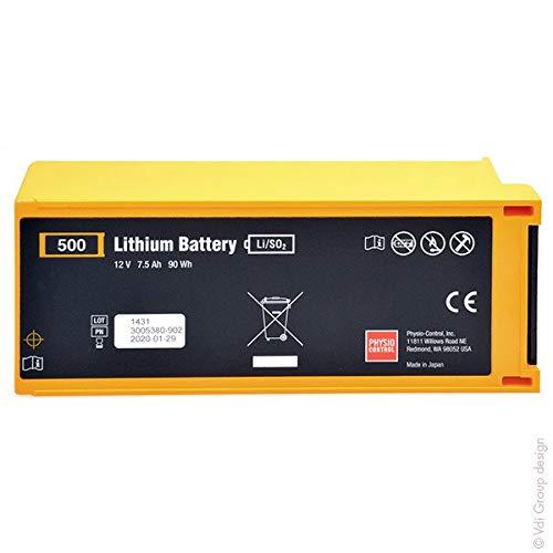 Physiocontrol – Batterie médicale Lifepak 500 AED 12V 7.5Ah