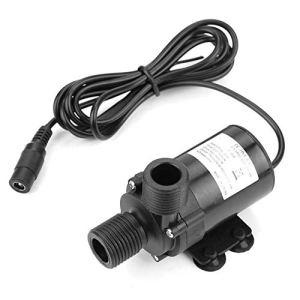 Pompe à eau, mini pompe à eau DC sans balais DC12V pour chauffe-eau solaire -40 ℃ ~ 100 ℃ Débit: 650L/H