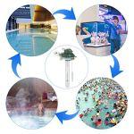RenFox Thermomètre de Piscine Flottant, thermomètre de température d'eau avec Cordon et Petit déjeuner pour Toutes Les piscines extérieures et intérieures Spas Aquariums Jacuzz Étangs à Poissons