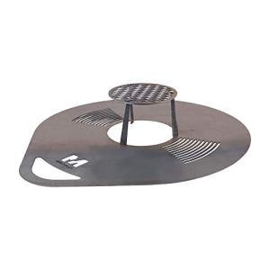 RM Design Plaque de grillage ronde, plaque de Barbecue en acier, plancha à grillades, plat de cuisson diamètre 80cm