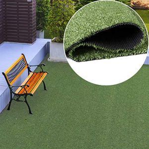 TAPISO Pelouse Synthétique Tapis d'Extérieur Gazon Balcon Terrasse Jardin Vert Poil Court Résistant au Mètre 300 x 820 cm
