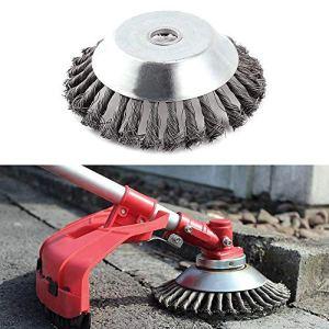 Tondeuse à tête de tondeuse à gazon à brosse en acier solide pour roue de jardin (6inch)