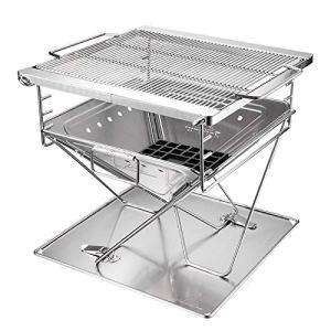 TREEMEN Pliable Portable Barbecues,Barbecue à Charbon,BBQ De Bois pour La Cuisine en Plein Air, Le Camping, La Randonnée, Les Pique-niques – for 3-6 Personnes