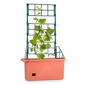 Waldbeck Pot de Plantes (75x130x35cm, Treillis Extensible sur 3 étages, Construction en Plastique polypropylène, système d'Irrigation Intelligent)