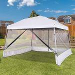 WSN 3,6 x 3,6 m Pop-up Gazebo Tente à baldaquin, Pare-Soleil Pliant Shelter événement avec des parois latérales de l'écran Mesh extérieur Jardin