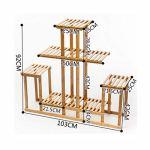 XHCP Support à Fleurs – Balcon intérieur en Bambou Multilayer Rack Multi-Usage Tridimensionnel Durable