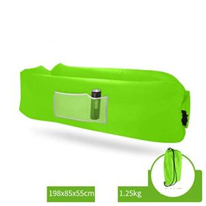 Yuanyuanliu Hamac Sacs Canapés Gonflables Gonflable Matelas Gonflable Portable Draps Canapé-lit Chaise Gonflable Personnes (Color : Green)