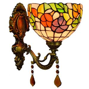 ZGQA-Lampes de bureau Anglais Pastorale créatif Miroir Phares classique Pastoral cristal Lampe de chevet mur Aisle Bar Couloir Applique Décoration Applique