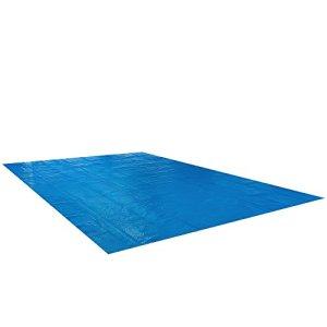 Arebos Bâche solaire à bulles pour piscine rectangulaire bleu 8 x 5 m 400 µ/microns