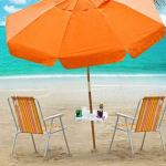 Ausuky Plateau de plage avec porte-gobelets, compartiments pour collations, table de plage