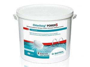 Bayrol – chlorilong Power 5 – Chlore Lent 5 Fonctions Galet 5kg
