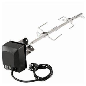 BBQ-Toro Tourne broche electronique kit en inox I compatible avec weber spirit und spirit II grill au gaz I avec 2 pince a viandes I barbecue, rôtisserie, rotissoire