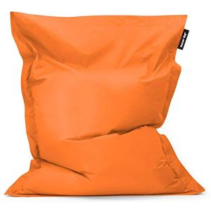 Bean Bag Bazaar, Orange, Pouf Géant pour Usage Intérieur et Extérieur Bazaar Bag, 180cm x 140cm, Pouf Poire résistant à l'eau