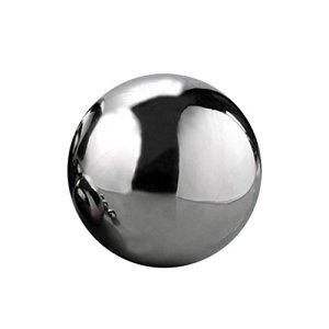 Boule creuse en acier inoxydable Sliveal Urben Life – Boule creuse polie miroir – Boule réfléchissante pour décoration de maison ou de jardin 120mm /