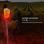 CoRui Lampe dalarme Solaire, Lampe de sécurité de Jardin extérieur sans Fil avec capteur de Mouvement IP65, Batterie intégrée, Avertissement déconomie dénergie pour Maison de Ferme (Mode Jour/Nuit)