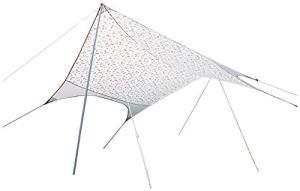 COUYY Hamac Pluie Fly Tente légère Tarp imperméable Hex Camping Tarp, abri Anti UV Soleil Abri de Camping pour Le Camping Jardin de Pique-Nique Voyage 450 * 430cm