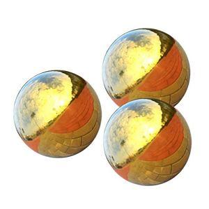 CUTICATE 3 Pièces en Acier Inoxydable Réfléchissant Brillant Boule Creuse Sphère Ornement De Pelouse 100mm