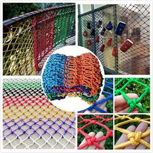 Filet de protection de balcon coloré pour balcon, fenêtre de jardin, balançoire, aire de jeux pour piscine et chat, coloré, 1*7M