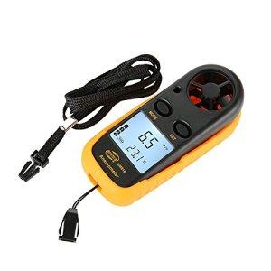 Générique Benetech Gm816Digital Mini anémomètre Anemometro Thermomètre Jauge de vitesse du vent Mètre LCD portatif Outil de mesure