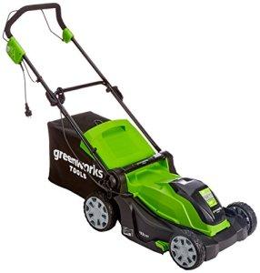 Greenworks Tondeuse à gazon électrique 2-en-1, 40cm, 1200W – 2505207