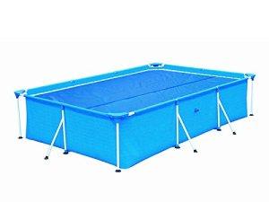 HAFIX Bâche Solaire pour Piscine rectangulaires 260×160 cm – Bâche de Piscine Bâche Solaire Chauffe-Piscine Bleu