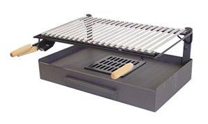 Imex El Zorro 71408 Bac avec plaque en fer pour barbecue Inox 5000.0000 noir