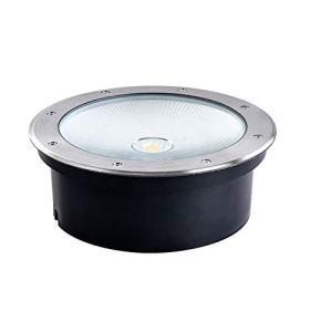 LED Buried Lumière, Lumières Enterrées 50W Blanc Chaud Cour Lampe Applique Imperméable De Plein Air Lumière AC12V/24V/220V (Color : White light-AC12V-Quantity: 16)