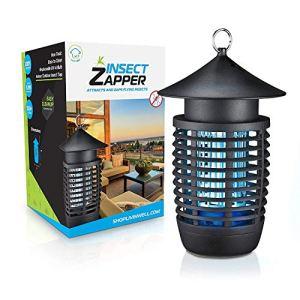 Piège à moustiques No Zap de Livin 'Well – Piège à moustiques léger en UVA intérieur/extérieur 3 en 1 + Piège à mouches Piège à mouches pour fruits avec ventilateur aspirant, un piège à insectes 100