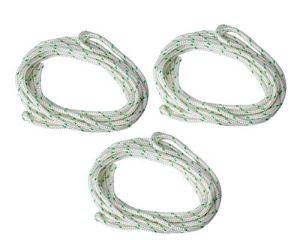 Poweka Nouvelle tondeuse à gazon en nylon à corde de rappel à corde de démarrage de 9 mètres pour tondeuse à chaîne Husqvarna Stihl Poulan(Diamètre: 3,5 mm)