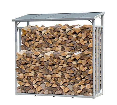 QUICK STAR Étagère en Aluminium pour Bois de cheminée 143 x 70 x 145 cm 1,4 m³