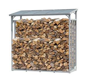 QUICK STAR Étagère en Aluminium pour Bois de cheminée XXL 185 x 70 x 185 cm 2,3 m3