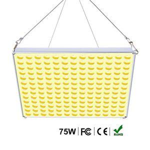 Roleadro 75W Lampe Led Horticole Croissance Floraison Grow light, Panneau Led Culture Indoor pour Plante Croissance