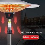 Sunlike chambre chauffe-énergie portable efficace, autoportant, en acier inoxydable, la sécurité d'arrêt automatique Protection, Pour: Bureau, Salon, Espace chauffé jusqu'à 30-60㎡ (Couleur: G 2100W)