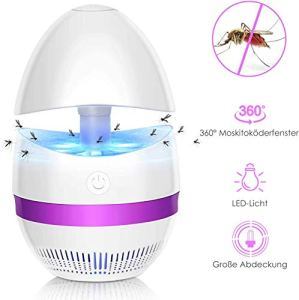 Sunnest Anti-Moustique Lampe, LED Piege Anti Moustiques, 360 ° tueur d'insectes, protection contre les parasites électrique abeille tueur anti moustiques insectes intérieur et extérieur insecte vol UV