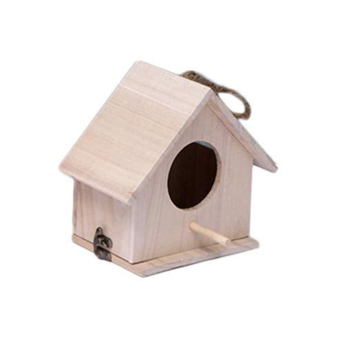 XILOSIN Oiseau Tree House Maison en Bois Nest Bird House Home Décor léger Artisanat pour Enfants 1pcs