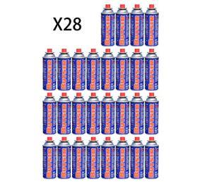 Butsir Lot de 28 cartouches de gaz de 227 g pour brûleurs, chalumeaux et autres cuisinières du marché Multicolore
