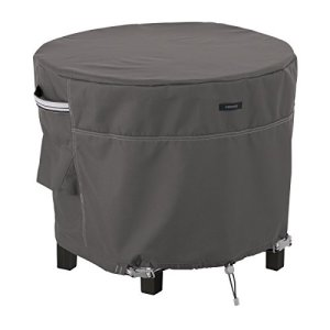 Classic Accessories Ottoman Cover Round Housse de Protection Medium