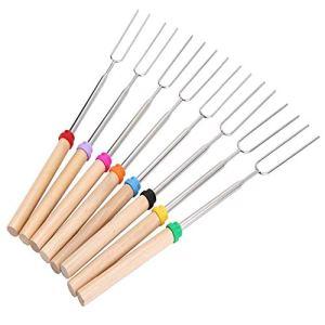 Daozea Lot de 8 bâtonnets de rôtir en Forme de U en Acier Inoxydable pour Guimauve