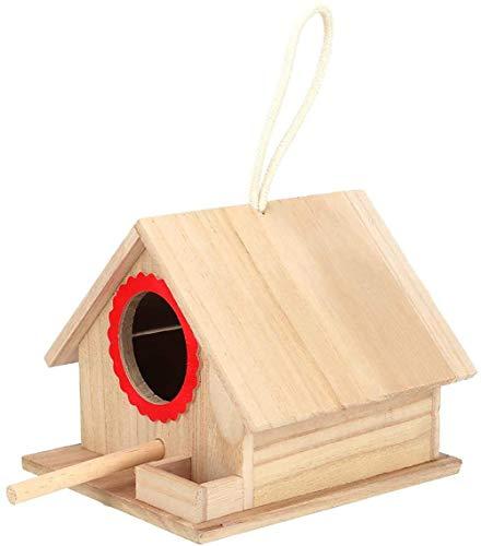 Durable Oiseaux Oiseaux Construction Paintable Maison Pin Des Oiseaux Pour Les Oiseaux D'alimentation Arrêt De Repos De La Station Parfaite Gifting Option Intérieur,Rouge