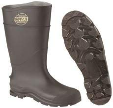 Honeywell 18821-BLM-140 SERVUS BY CT PVC SAFETY KNEE BOOT, STEEL TOE, BLACK, SIZE 14 (6 PAIRS)