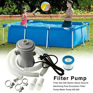 HTYA Swimming Pool Filter Pump Water Cleaning System for Above Ground Pool ,It is Suitable for Swimming Pools, Fish Ponds, etc, Filtering Materials in Water. UK