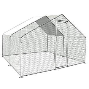 IDMarket – Enclos poulailler 9M² Parc grillagé 3x3M Acier galvanisé
